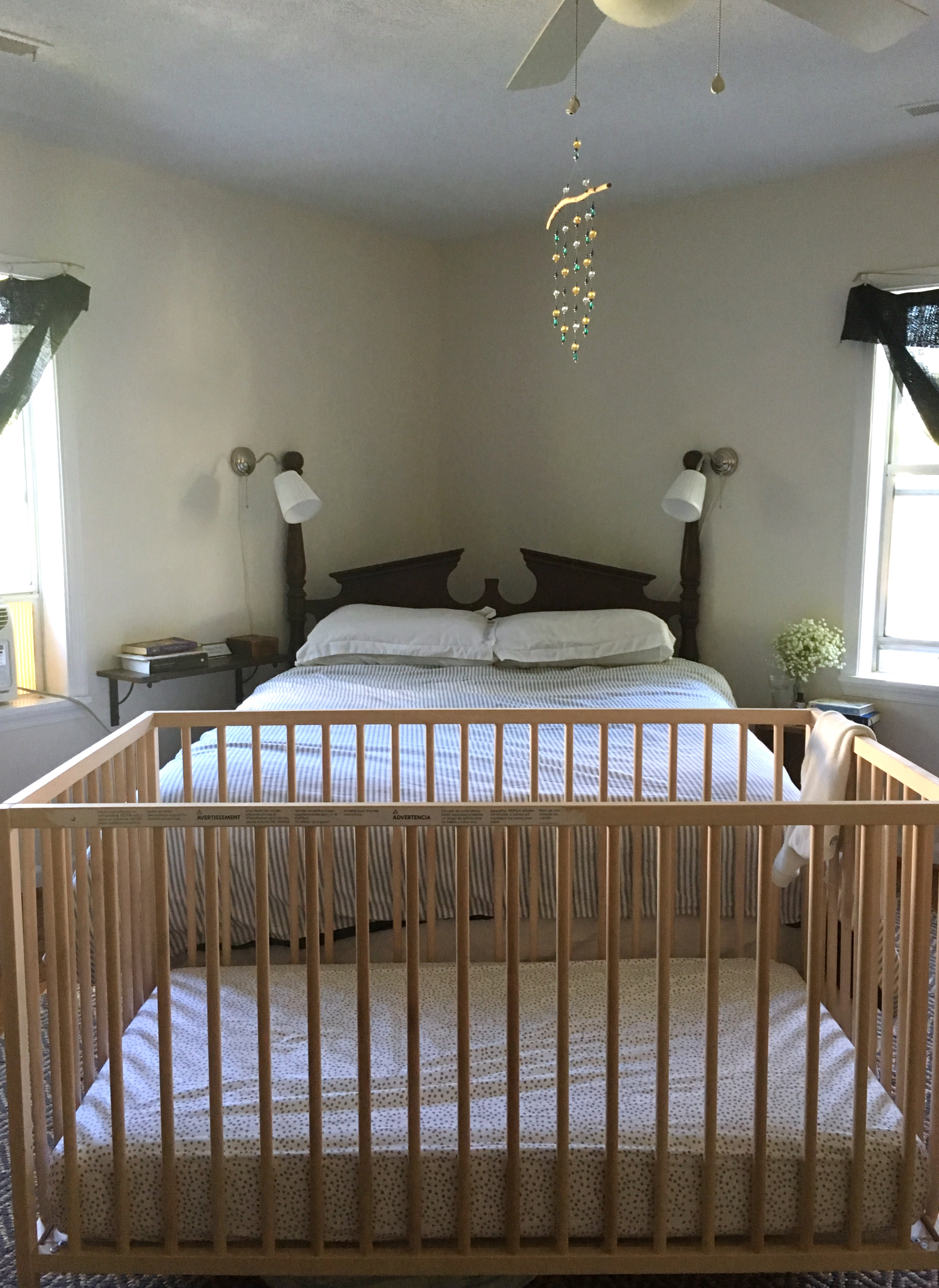 KatharineSchellman.com - tiny apartment sharing a bedroom with a baby