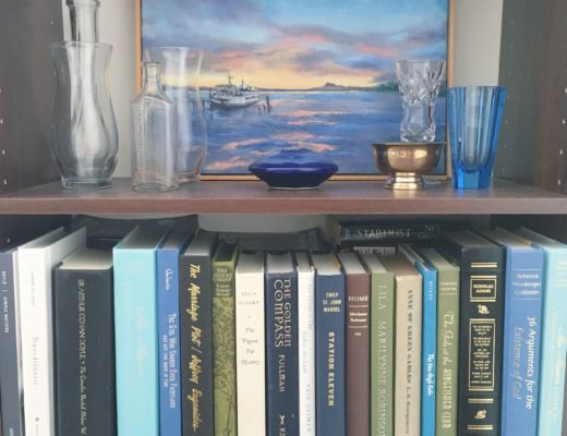 Katharine Schellman - bookshelf display - motivation