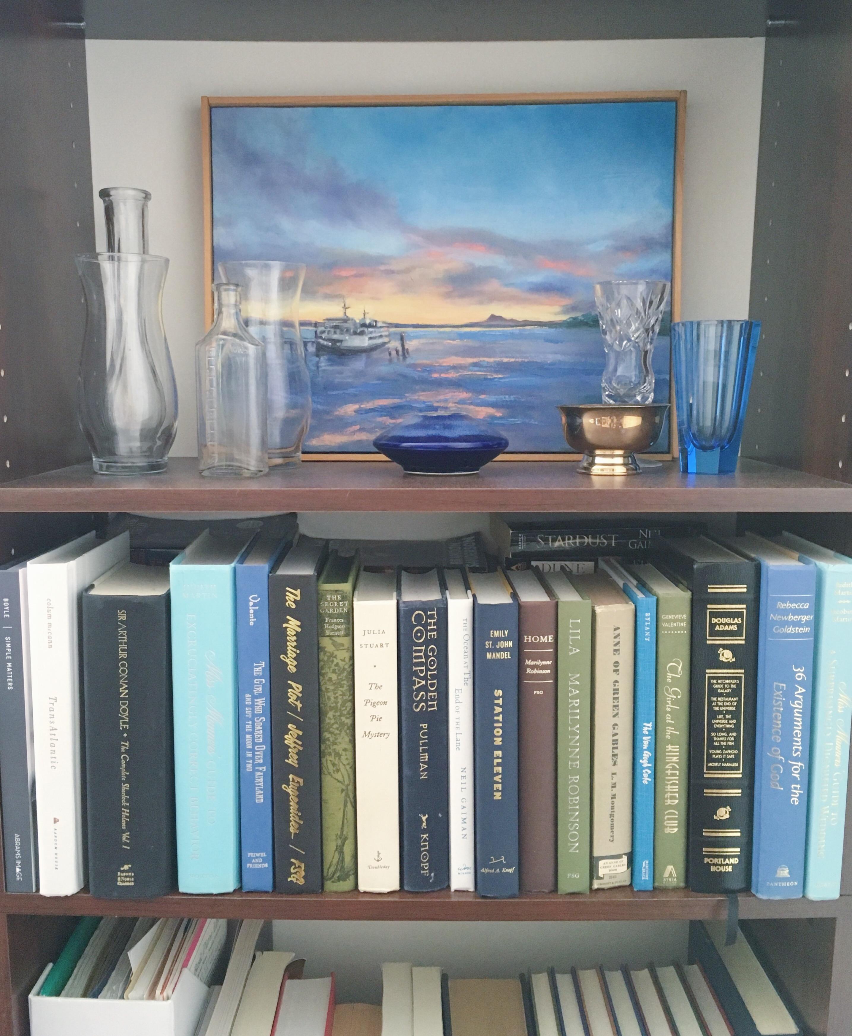 Katharine Schellman - bookshelf display - motivation
