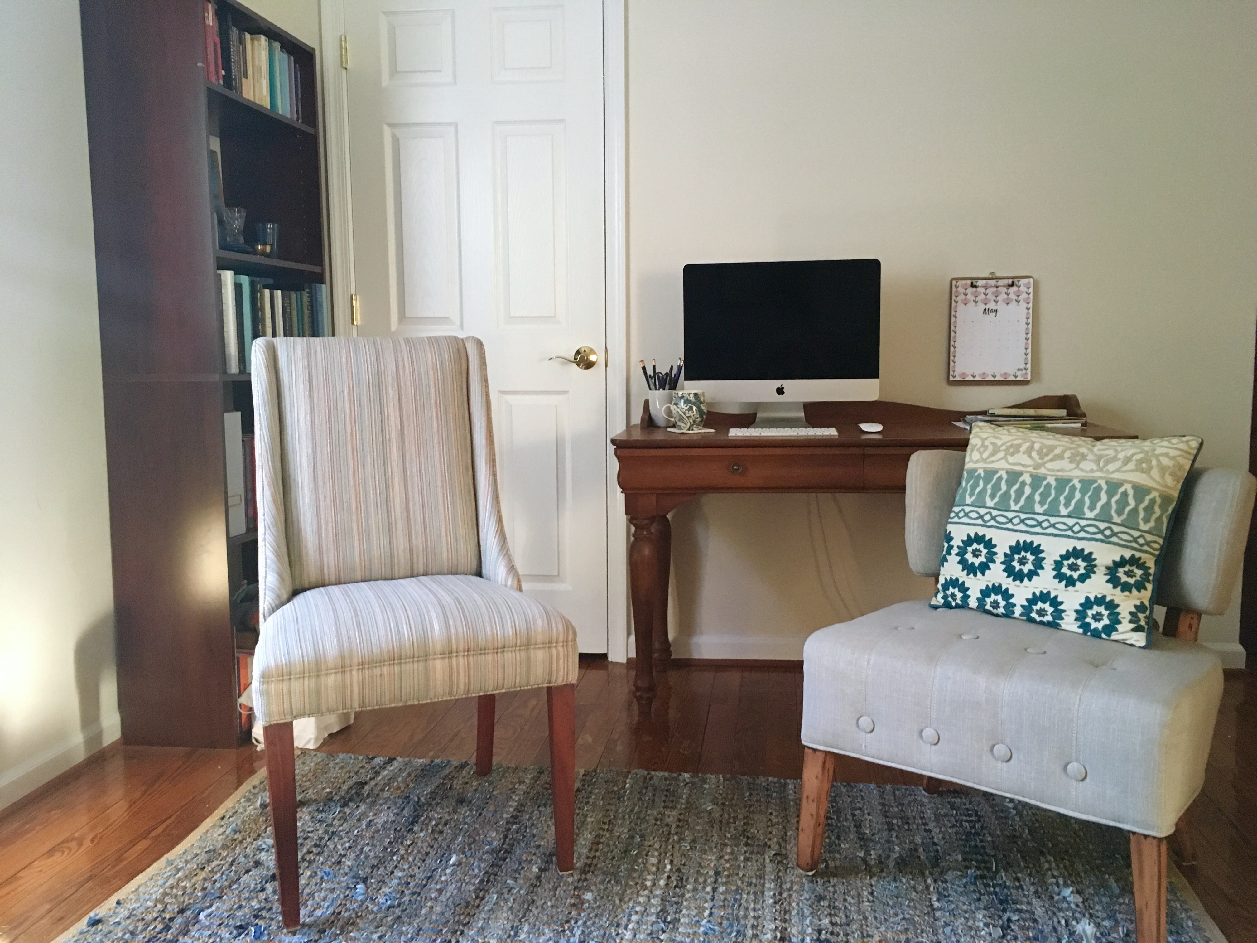 KatharineSchellman.com - tiny apartment combined living room and office